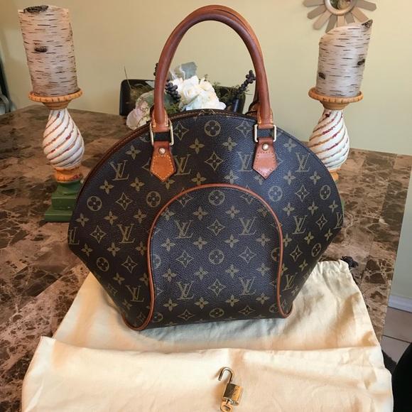6b1ce94e9994 AUTH Louis Vuitton Ellipse MM DUSTBAG, LOCK, & KEY